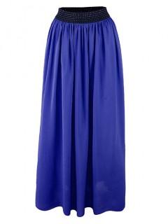 Spódnica Maxi Bawełna Cobalt