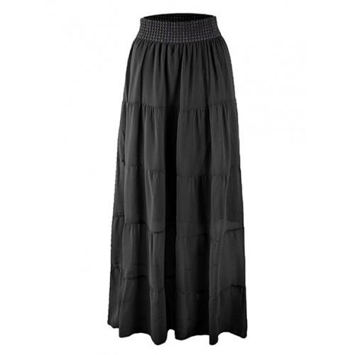 Spódnica Maxi Przeszycia Black