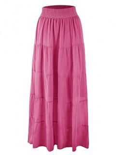 Spódnica Maxi Przeszycia Pink