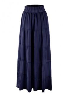 Spódnica Maxi Przeszycia Navy Blue