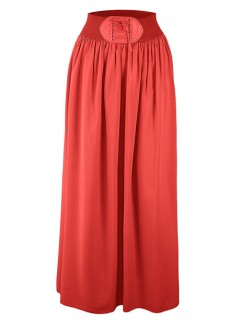 Spódnica Maxi Sznurowanie Red