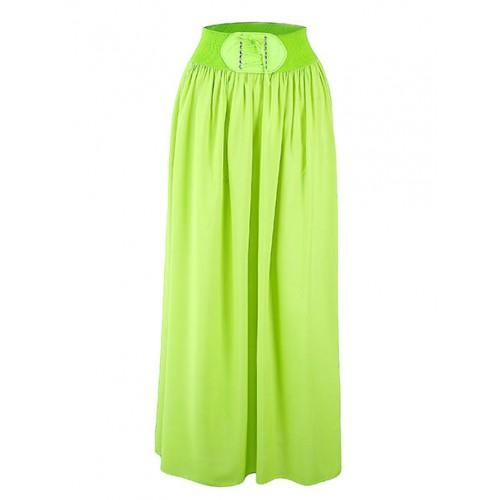 Spódnica Maxi Sznurowanie Lime