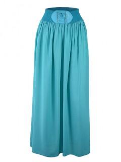 Spódnica Maxi Sznurowanie Turquoise