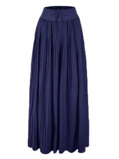 Spódnica Maxi Plisa Navy Blue