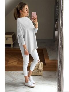 Bluza Over Melange Grey