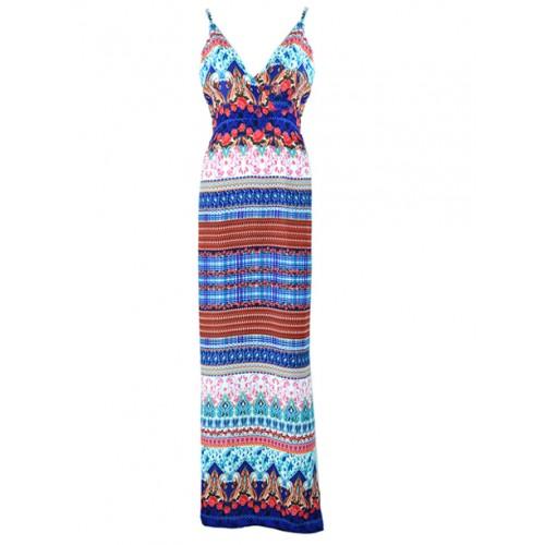 Sukienka Boho Maxi Blue