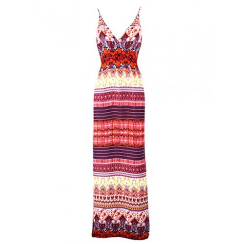 Sukienka Boho Maxi Red