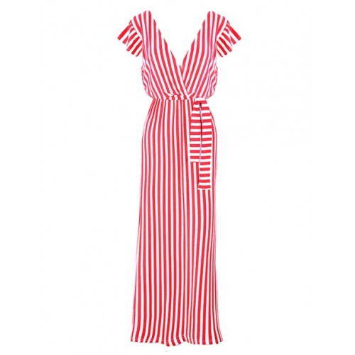 Sukienka Maxi White&Red