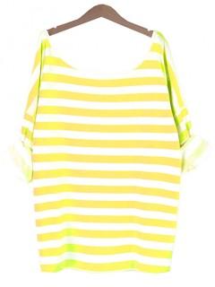 Bluzka Obustronny V-NECK Marine Yellow