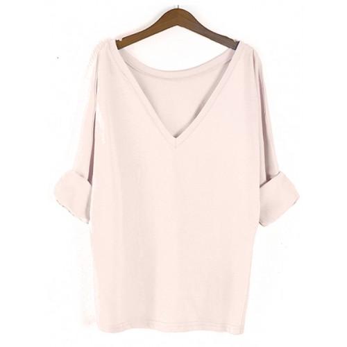 Bluzka Obustronny V-NECK Pastel Pink