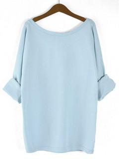 Bluzka Obustronny V-NECK Pastel Blue