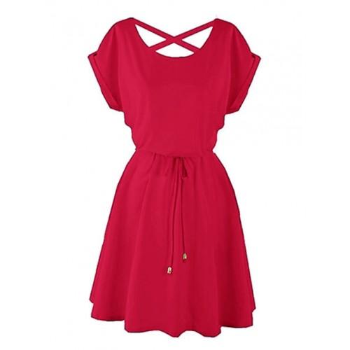 Sukienka Strapsy Malinowa