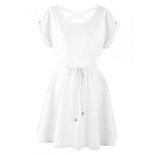 Sukienka Strapsy Biała