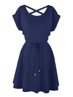 Sukienka Strapsy Denim