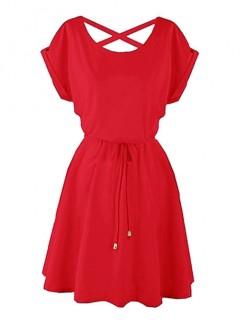 Sukienka Strapsy Czerwona