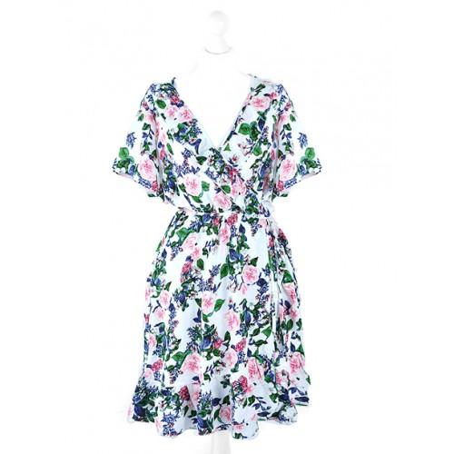 Sukienka Kopertowa Biała