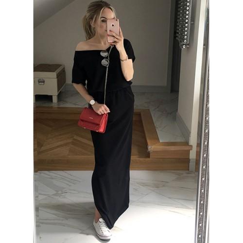 Sukienka Atena Maxi Czarna