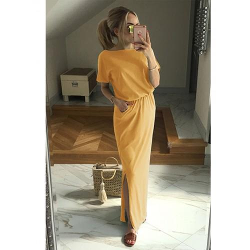 Sukienka Atena Maxi Miodowa