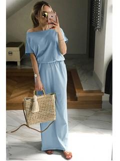 Sukienka Atena Maxi Błękitna