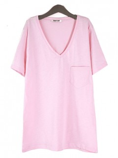 Bluzka Kieszonka Pastel Pink