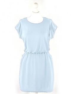 Sukienka Hem Błękitna