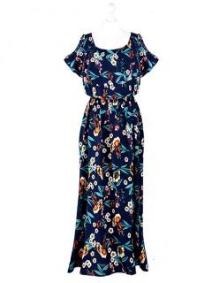 Sukienka Maxi Hiszpanka Granatowa