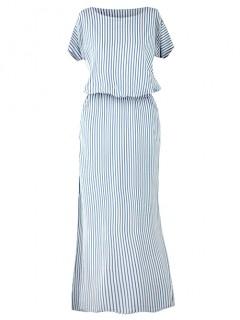 Sukienka Atena Maxi Denim Paski
