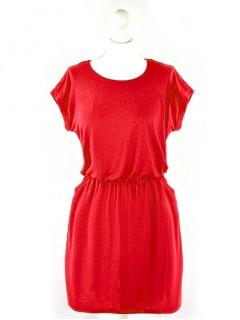 Sukienka Hem Czerwona
