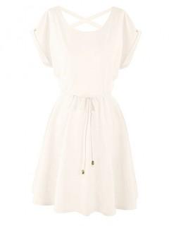Sukienka Strapsy Waniliowa