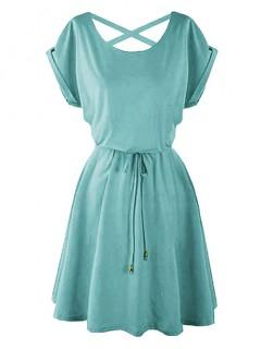 Sukienka Strapsy Morska