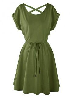 Sukienka Strapsy Oliwkowa