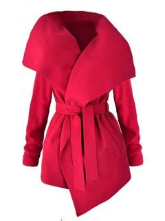 Płaszcz Flausz Wrap Czerwony