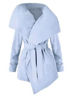 Płaszcz Flausz Wrap Błękitny