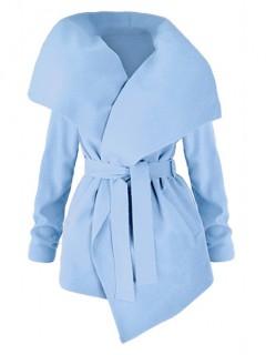Płaszcz Flausz Wrap Niebieski