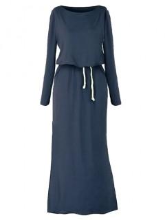 Sukienka Maxi Granatowa