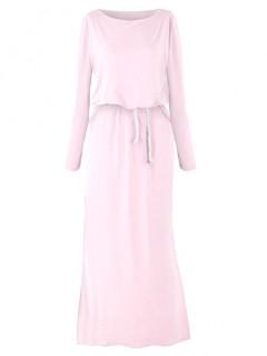 Sukienka Maxi Pastelowy Róż