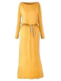 Sukienka Maxi Musztardowa