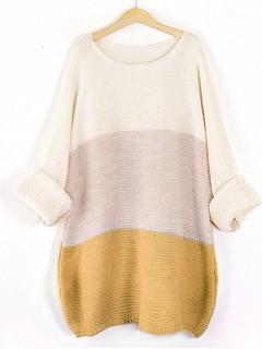 Sweter Pasy Musztardowy