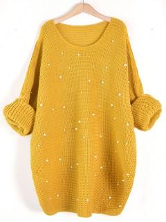 Sweter Perły Mustard