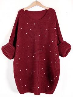 Sweter Perły Burgundy