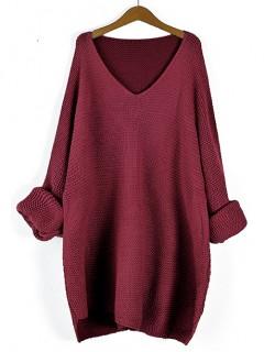 Sweter Prążek Bordowy