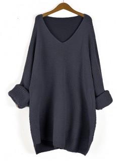 Sweter Prążek Granatowy
