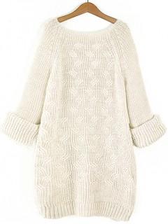 Sweter Warkocze Waniliowy