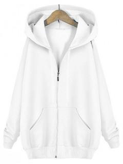 Bluza Basic Zip Biała