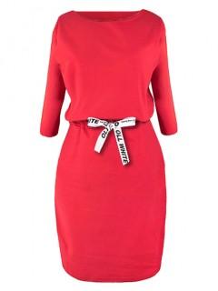 Sukienka Taśma OLL Czerwona