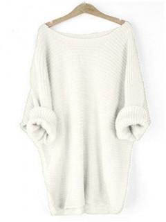 Sweter Nietoperz Waniliowy