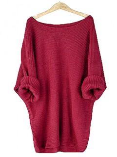 Sweter Nietoperz Malinowy