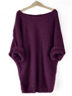Sweter Nietoperz Fioletowy
