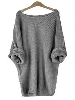 Sweter Oversize Grafitowy