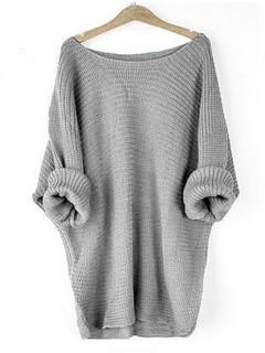 Sweter Oversize Szary